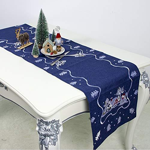Nerioya Kerst Restaurant Tafelkleed, van Kerstman Stof Tafeldecoratie Borduurwerk Restaurant Tafelkleed, Kerst Decoraties, 2 Stks