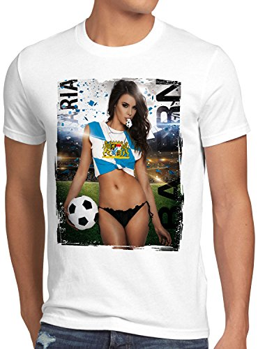 style3 Bayern Soccer Girl Herren T-Shirt Fußball Trikot München Oktoberfest Germany, Farbe:Weiß, Größe:5XL