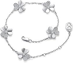 Damas Mujeres 925 Plata Plateado Bola Cadena Pulsera pulsera del encanto del corazón regalo-UK