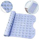 Alfombrillas para bañera, Alfombrilla Antideslizante para Baño Alfombras Baño 100 x 40 cm Azul con 200 Ventosas para Bañera Cuarto de Baño