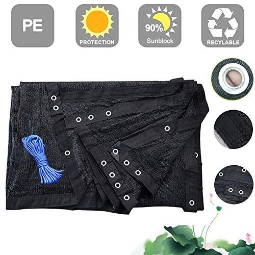 GZL-backpack Shading Net, HDPE Shade Cloth Sunshade Net mit Hängeloch, 95% Shading Rate Schwarzer Sonnenschutz Sun Shelter für Gartenbalkon Carport Outdoor (anpassbare Größe),8mx8m