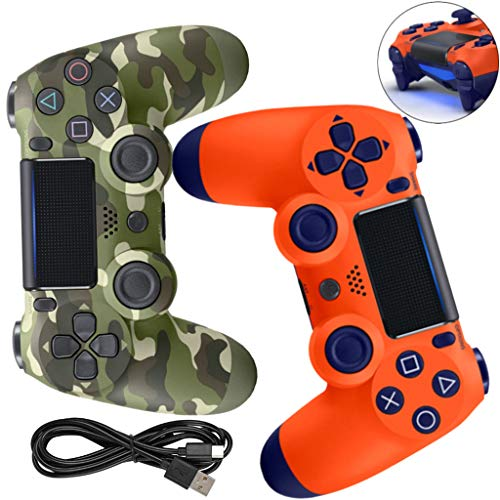 LPWCAWL Manette sans Fil PS4, Manette De Jeu Dualshock, Contrôleur De Jeu avec Fonction Audio et Fonction De Vibration, Pavé Tactile et Barre Lumineuse LED, Convient pour PS4/Pro/Slim,A