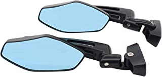 NewYall Set of 2 Right and Left Black Racing Rear view Mirror