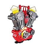 Simulieren Motorrad Motor überholung Play Set mit licht Sound DIY montagemechaniker kit Kinder pädagogisches Spielzeug Geschenk -