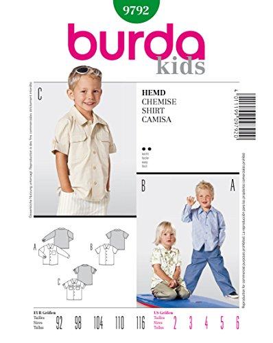 Burda 9792 Schnittmuster Hemd & Polo (kids, Gr, 92 - 116) Level 2 leicht