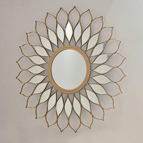 Spiegel ZI LING SHOP- Europees-Amerikaanse IJzeren muur Decoratie Concealer Open haard Sofa TV Achtergrond Muurdecoratie 80X80CM