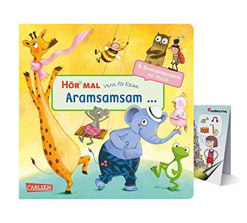 HÖR MAL: Verse für Kleine: Aramsamsam (Pappbilderbuch) + Musik-Wimmel-Übersicht, Bewegungsspiele mit Musik für Kinder ab 2 Jahren
