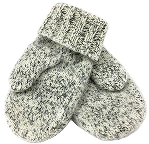 Dachstein Woolwear Extreme Warm 100% Austrian Boiled Wool Alpine Mittens in Natural Grey (6.0)