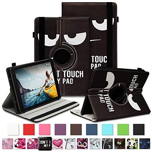 NAUC Tablet Schutzhülle für Medion Lifetab P8912 Hülle Tasche Standfunktion 360° Drehbar Cover Universal Case, Farben:Motiv 5