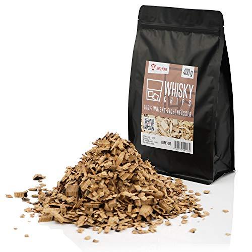 BBQ-Toro Whisky Smoker Chips (400 g) Whisky Räucherchips | rauchintensive Smokerchips aus Eichenfässern | Grillchips für Gasgrill, Smoker, BBQ