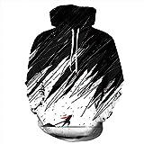 TAGVO Sudaderas con Capucha Impresas en 3D Unisex Novedad Sudadera Personalizada Jerseys Jerseys de Manga Larga Transpirable con Capucha con Bolsillo Elástico con Capucha para Hombres y Mujeres
