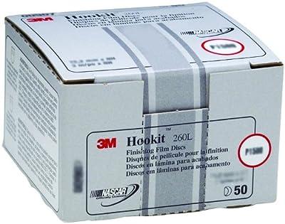 3M Hookit Finishing Film Abrasive Disc 260L, 00911, 3 in, P600, 50 discs per carton,Gold