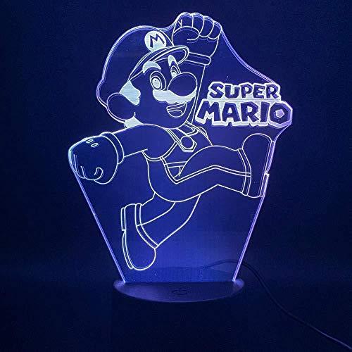 3D Lámpara de LED Luz nocturna Luz de ilusión 3D para hombres, mujeres, niños, niñas, regalo Con interfaz USB, cambio de color colorido