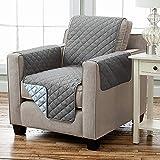 Kamaca Wende - Sesselschoner Sesselauflage Relax mit Armlehnen und Taschen Sessel Überwurf warm und weich zur Schonung der Polster Lehnenschutz zweiseitig verwendbar (ANTHRAZIT - HELLGRAU)