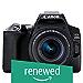 (Renewed) Canon EOS 200D II 24.1MP Digital SLR Camera + EF-S 18-55mm is STM Lens + EF-S 55-250mm is STM Lens (Black)
