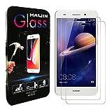Compatible con Huawei Y6 II Protectores de Pantalla, (2 Unidades) Cristal Templado Transparente Completo para Huawei Y6II, Honor 5A, Honor Holly 3