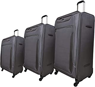 Magellan Luggage Trolley Bags 4 Pcs Set, Dark Grey