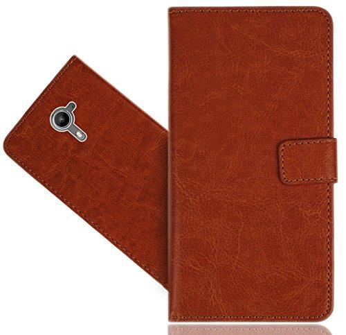 FoneExpert® Wiko U Feel Prime Handy Tasche, Wallet Hülle Flip Cover Hüllen Etui Hülle Premium Ledertasche Lederhülle Schutzhülle Für Wiko U Feel Prime