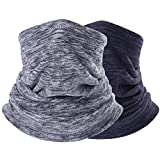 Neck Warmer Gaiter, Polar Fleece Ski Face Mask Cover for Winter Cold Weather & Keep Warm 2Pcs