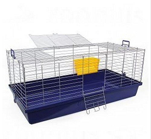 Classique Petit Animal Cage – Design particulièrement robuste avec bar espacement – Home massif pour toute la vie de votre lapin ou cochon