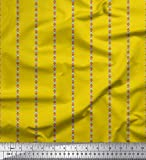 Soimoi Gelb schwere Leinwand Stoff Stripe & Dreieck