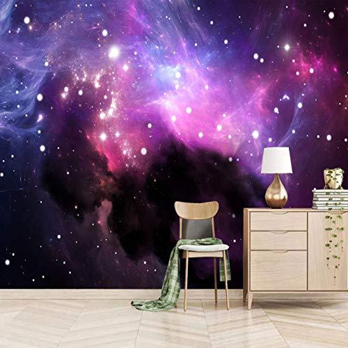 TDYNJJ Wandbild Kinderzimmers Wallpaper Wandgemälde - Cool Sternenhimmel Galaxie Landschaft - Photo Wallpaper 3D Fototapete 3D Tapete Effekt Vlies Wandbild Schlafzimmer Geschenk
