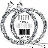 Hyacinth 10PCS Premium Bike Shift Cable,...