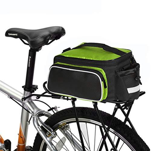 KAMELUN Fahrradkoffer Tasche Fahrrad Satteltasche Gepäckträger Tasche Rucksack Seitentasche mit Wasserfester Schultertaschen,Grün