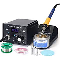 A Trusty Soldering System-This 939D+ soldering iron station packs useful features for performance while remaining easy-to-use at an affordable price. Classic but Mighty, it can heat up fast to get you started in no time. AND offer: Intelligent Temper...
