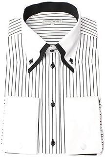 [ドレスコード101] 形態安定加工 ワイシャツ 襟高デザインでカッコよくきまる 長袖Yシャツ 豊富なサイズでピッタリが見つかる 形状記憶 SHIRT-1000 メンズ