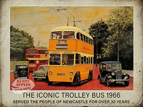 Sp567encer Newcastle The Iconic 1966 Trolley bus metalen bord wooncultuur mooi cadeau