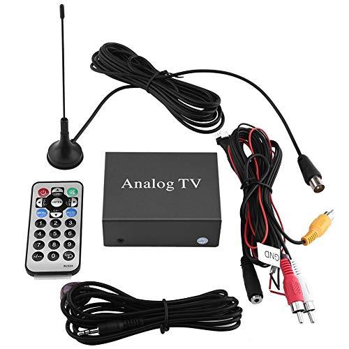 Rockyin Caja fuerte señal móvil del coche de DVD Receptor de TV sintonizador de TV analógica con la antena remota Controlador
