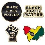 Viipha Black Lives Matter エナメルピン 4個セット ブローチ I Can't Breathe Protest バッジ ジョージ・フロイドバッジのジャスティス