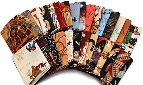 10 Fat Quarters - Assorted Western 2021 autumn and winter new New color Out Hor Old Cowboys West