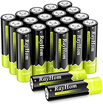 20-Pack RayHom AA 1.2 V Pre-Charged Rechargeable Battery