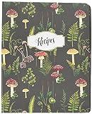 C.R. Gibson - Diario de recetas en espiral rústico de madera