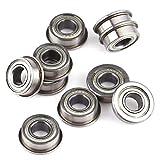10PCS F686Zz Flanged Ball Bearings, Mini Metal Steel Double Shielded Flanged Ball Bearings 6135mm Bearing Steel