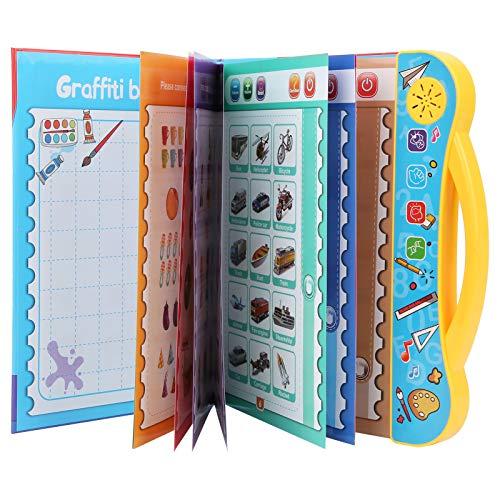 Fockety Juguetes de máquina de Aprendizaje, Libro electrónico de Aprendizaje, Aprendizaje de inglés Seguro con Pilas para niños Mayores de 3 años