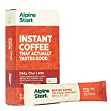 Alpine Start Premium Instant Coffee Packets, Diary-Free Dirty Chai Latte, 5 Single Serve Packets