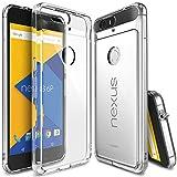 【Ringke】Nexus 6P ケース 対応 コスパ最高 クリア 透明 落下防止 ストラップホール スマホケース 米軍MIL規格取得 TPU PC 二重構造 吸収耐衝撃カバー Fusion (Clear/クリア) Google Nexus 6P ケース