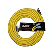 ProStar 10 Gauge SJTW 3 Conductor 50 Foot Extension Cord with Lighted Ends - Yellow