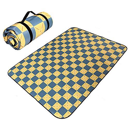 WDDLD Manta De Picnic Impermeable, 150 X 200 Cm, Estilo éTnico, Plegable para Camping, Playa, JardíN (Multicolor)