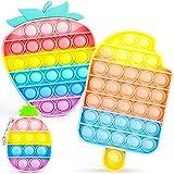IDJWVU Pop Fidget Toy It 3 Pack Push Bubble...