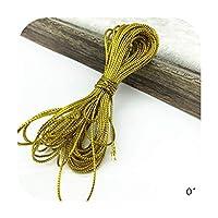 Sexy-Kawayi 10ヤードゴールドロープ麻ひもリボンウェディングクリスマスギフトパッキングコード装飾ロープDiy手作りクラフトストリングパーティーサプライ-01-