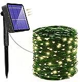 YORKOO Garlands Luces Exterior Solar, 24 m 240 LED Luces solares de hadas al aire libre Jardín impermeable, 8 modos Cadena de luces decorativas para patio, puerta, jardín [Clase energética A +++]