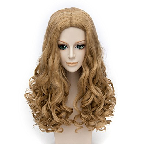 LanTing Cosplay Perücke The Cinderella Brown Lange Perücke Styled Frauen Cosplay Party Fashion Anime Human Costume Full wigs Synthetic Haar Heat Resis