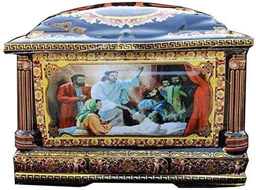 Zenghh Exquisite Handmade Adult Keramik Christus Jesus Asche Asche Keramik Asche Funeral Möbel katholische Asche hohe Temperatur und große Kapazitäts