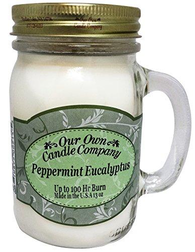 Menta Eucalipto aroma 13oz Mason vela en tarro por nuestra propia Candle Company