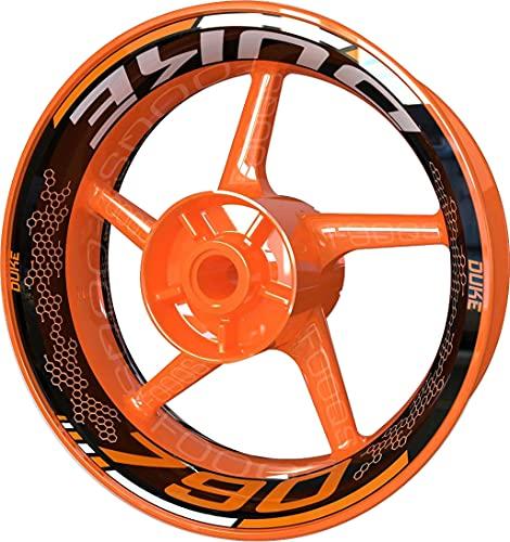 Pegatina para llanta de moto F2 para KTM 790 Duke (naranja/blanco)