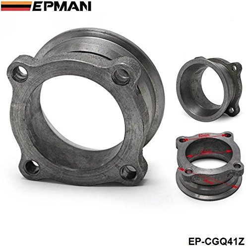 EPMAN 2.5 Inch to 3 Inch V-Band Turbo Downpipe Exhaust Flange Adapter 4 Bolts Conversion Kit